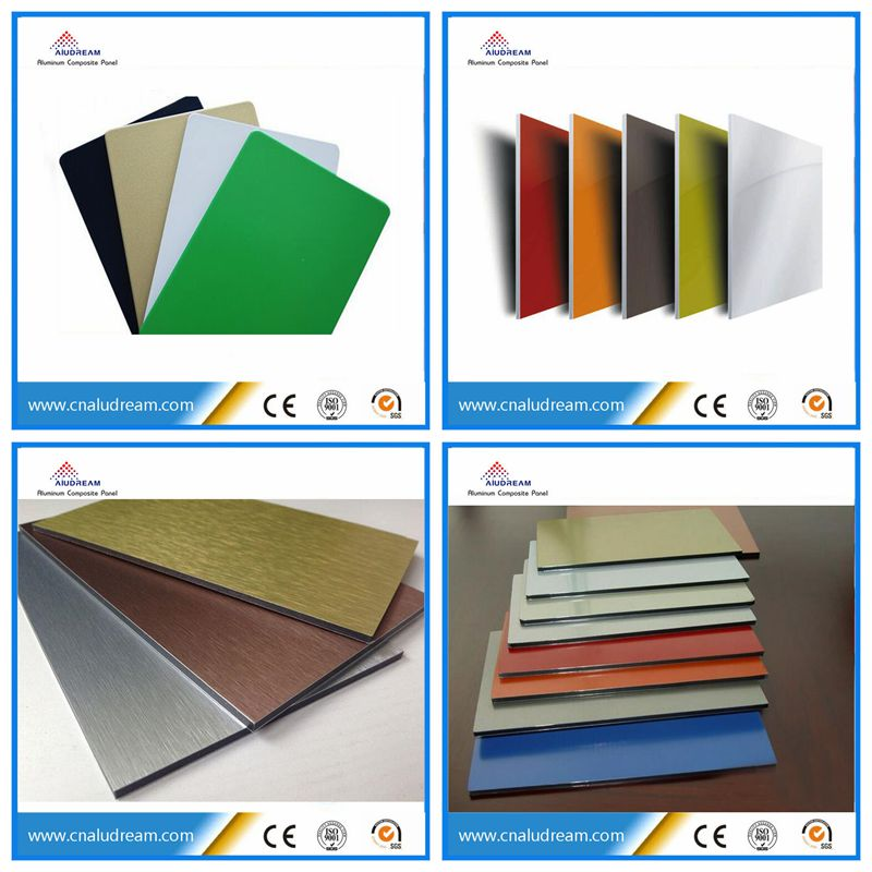 Fireproof Composite Panel : Fireproof plastic material aluminum composite panel