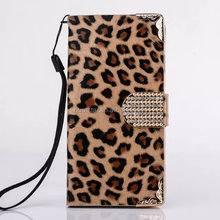 Leopard Print PU Leather Wallet Stand Flip Slots Cover Skin Case For Samsung
