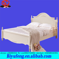 1.8 meters bedroom white American bed of carve patterns or designs on woodwork latest design wooden furniture double deck bed