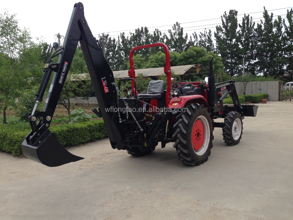 farm tractor front loader end backhoe with CE certificate