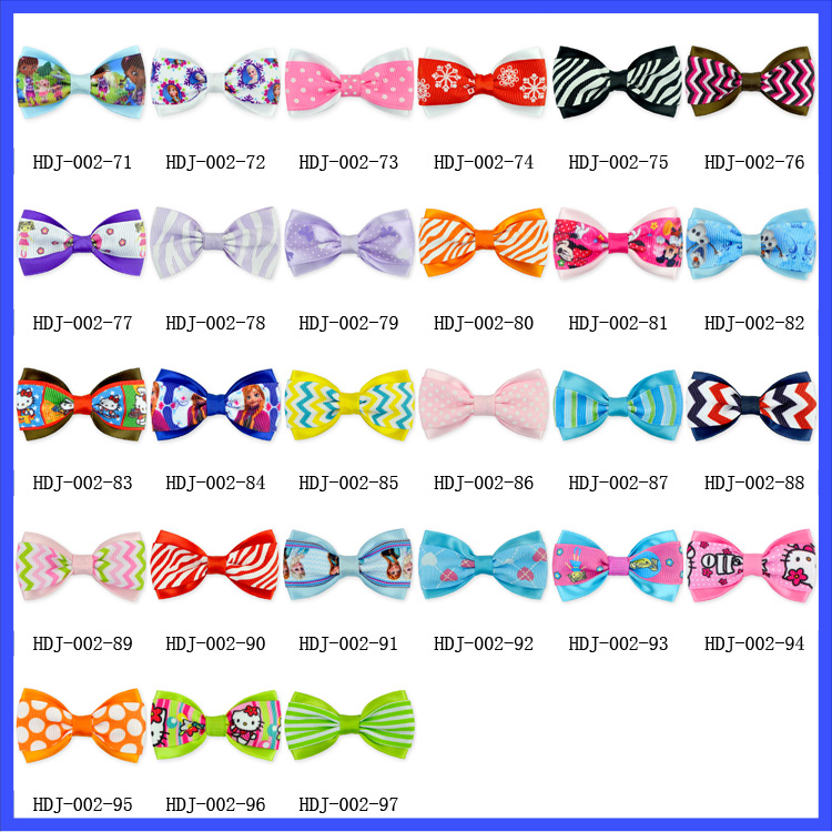 Newest Elsa Printed Ribbon Cartoon Bows Wholesale Children