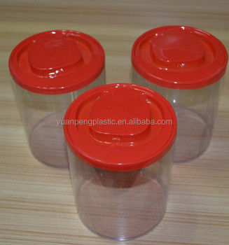 Customized printing plastic clear round pvc box