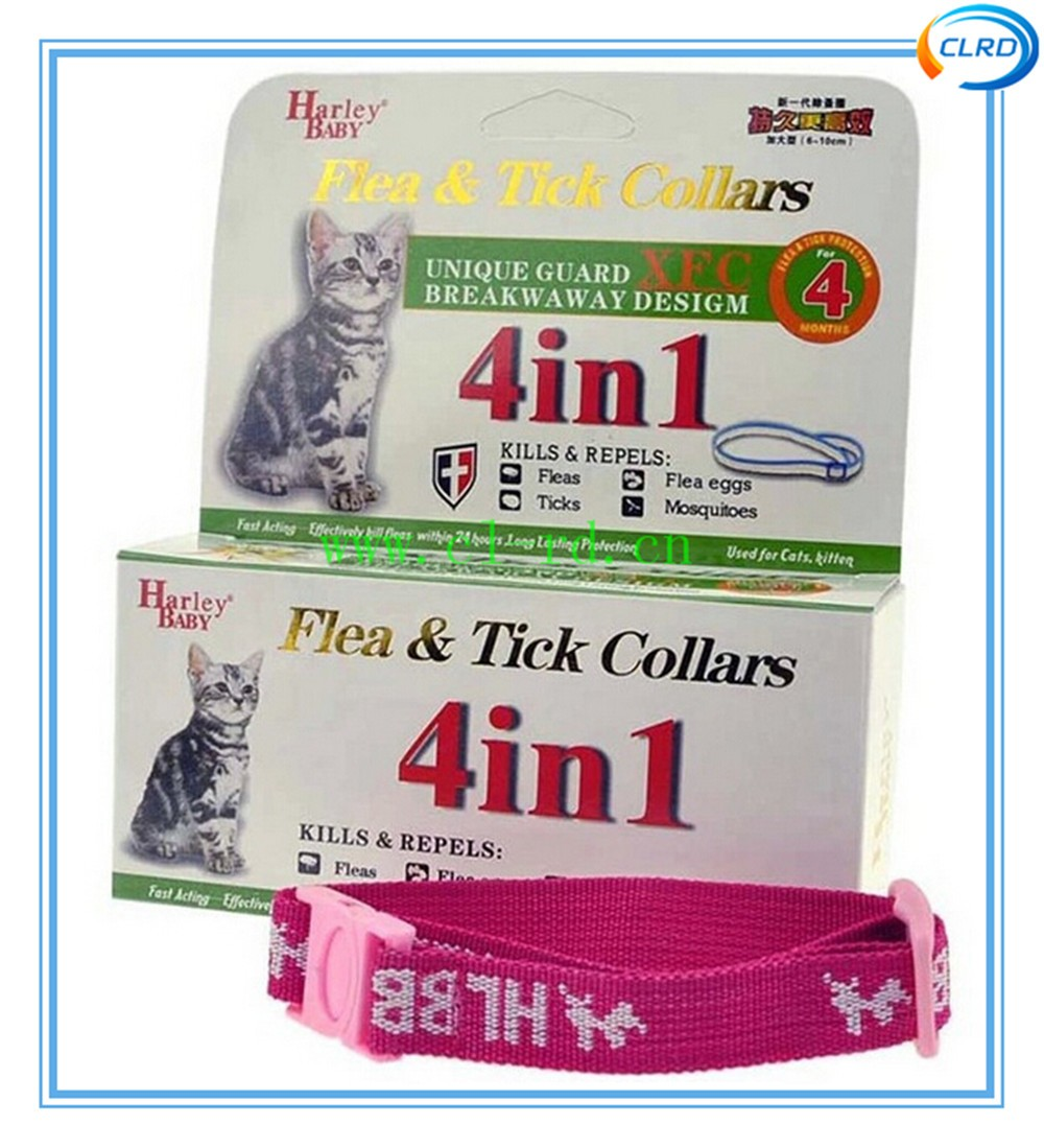 Wholesale- Harley Baby Anti Fleas & Ticks& Mosquitoes Collar Cat Flea Repellent Collars with Individual Packing