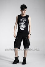 2014 china wholesale cotton man jogger pants casual punk style trousers made in china K-156