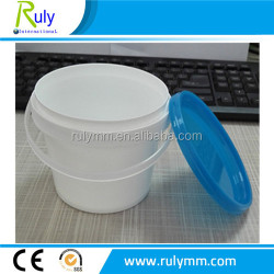 colorful lids with handle plastic buckets for foods package