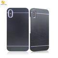 Brush Hard Rugged for iPhone X Aluminum Phone Accessories Mobile Back Cover Case