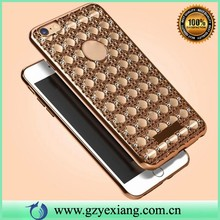 popular soft gel cover for iphone 5g 5s diy rhinestone agate cell phone case
