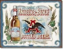 Liquor Tin Signs - Anheuser Busch - Bottled Beers