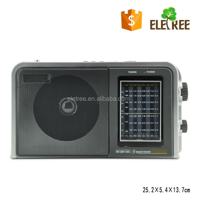 FM/AM/SW1-7 all band radio for sale EL-2838USB radio opel vectra c