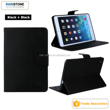 Flip PU leather card holder wallet case for ipad mini 4