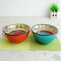 hand painted soup bowl,ceramic bowl hand painted