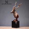 Artificial decorative metal craft cooper deer head sculpture