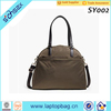 trim leather handle over night women travel business tote bag