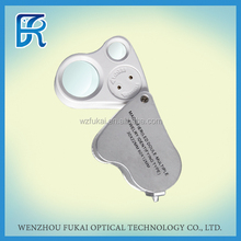 Alibaba china 16X hot selling mini jewelry magnifier for diamond testing