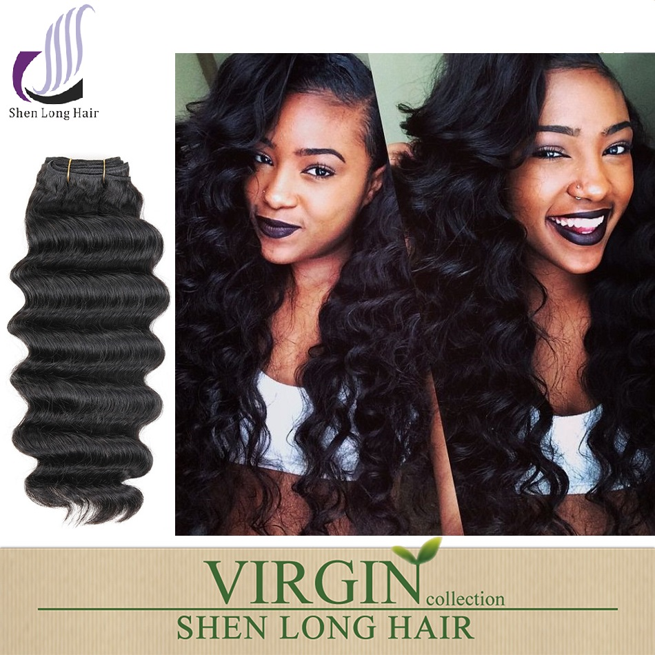 Accept Paypal factory wholesale 18 inch brazilian loose deep wave hair weave