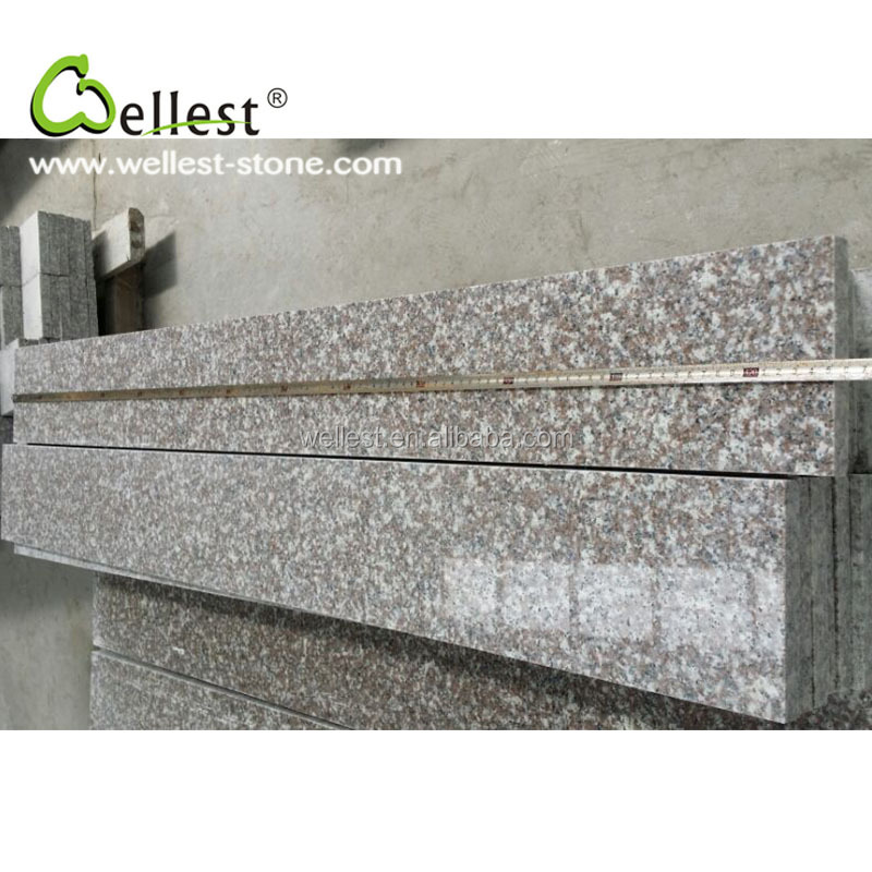 anti-slip outdoor stone steps risers granite stairs