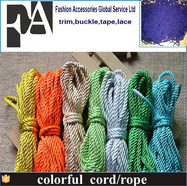3-strand polypropylene twisted marine ropes/cord/string