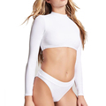 Women's Summer Cropped Rash Guard with OEM Service