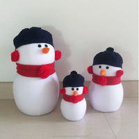 Fancy christmas promational factory wholesale customized unique amimal customized sutffed plush cute giant snowman toys