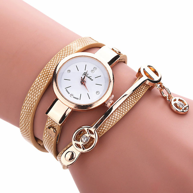New Fashion Girls Ladies Women's Watches Faux Leather Rhinestone Analog Bracelet  Quartz Wrist Watches Women relogio feminino