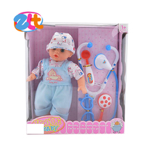 2015 children toys 12 inch cotton boy doll with doctor set