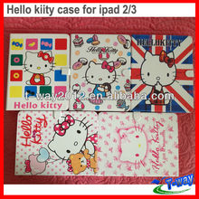 2013 hello kitty leather case for ipad 3