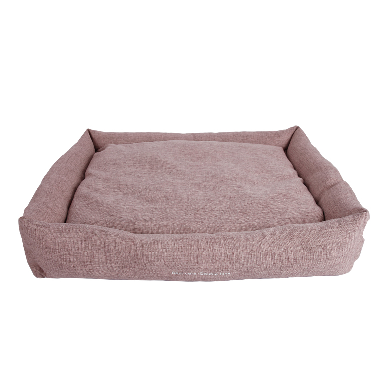 Lovely plush large pink dog beds