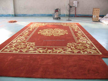 handmade area rugs with classic red design used corridor and loddy