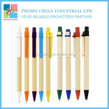 High Quality Creative Ecological Recycle Pen Paper Green Pen For Promotion