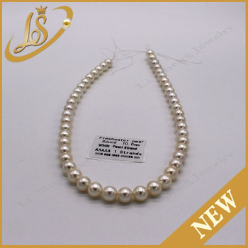Low price white round natural freshwater pearl bijoux femme