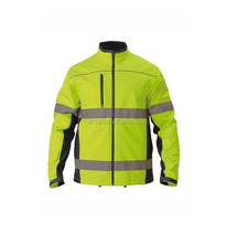 High Visibility Safety Soft Jacket Reflective Softshell