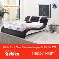 Foshan HAPPY NIGHT fancy toddler leather beds