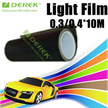 UV Stable PVC Self adhesive Lamp Film, Dark Black Transparent Vinyl for Car Headlight Wrapping
