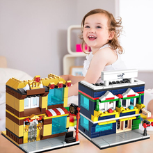 Intelligent Educational Toys ABS Plastic Puzzle City Street Building Blocks