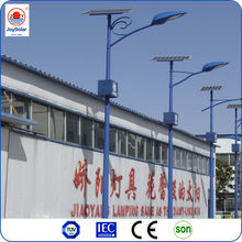 LED solar street light 15W-120W DC power with 4-12M steel light pole for tropical regions