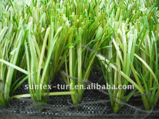 Artificial plastic grass and fence for football pitch