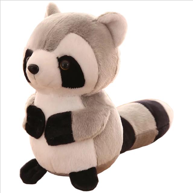 Newest Kawaii stuffed raccoon plush small soft toys cheap animal toys for children small raccoon with big eyes plush