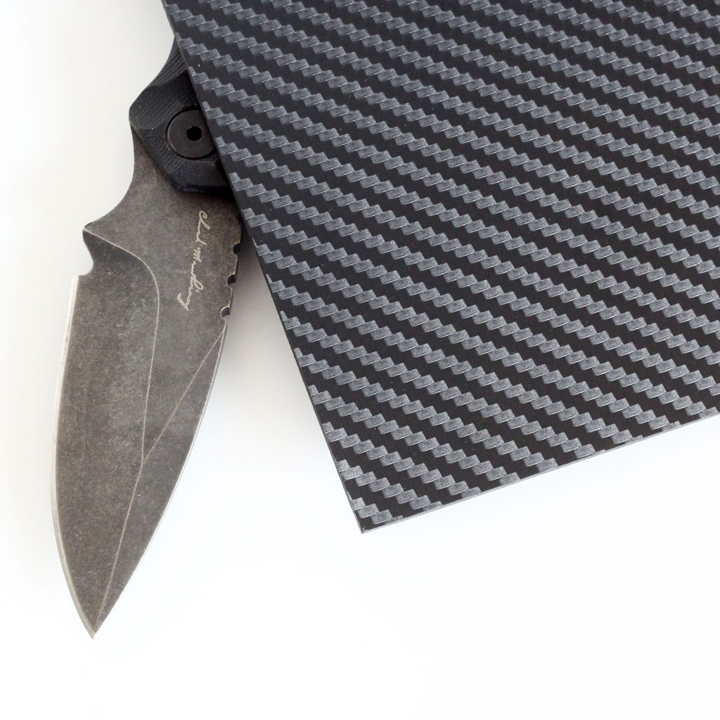 Carbon Fiber Pattern Kydex Holster Knife Sheath Making Material DIY Thermoplastic Sheet Snake Twill Design