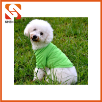 SJ-L6054 Blank cotton dog t shirts clothes Pet polo shirts