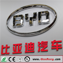 Custom Chinese Chrome Lighting Led Car Acrylic&Mental Emblem Brands Logo Names With Vacuum Moulding Tech