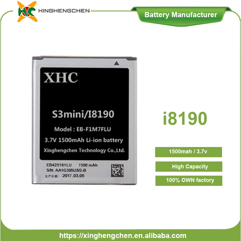 OEM smallest rechargeable battery gb t18287-2000 3.7v li-ion mobile phone battery for samsung s3 mini,i8190