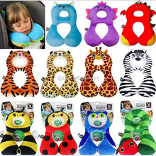 wholesale 1-4 age cute animal shape neck support travel pillow for car seat head support cushion decor