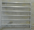 Galvanized 6 Bars Square Pipe Cattle Yard Panels