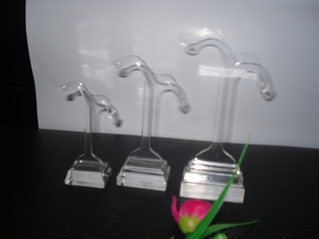 Luxury design acrylic jewelry display stands,New arrival popular bottle acrylic display