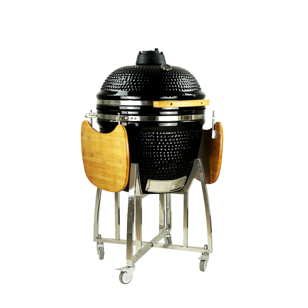 "23.5"" Extra Large Ceramic Charcoal Built In Barbecue Grill"