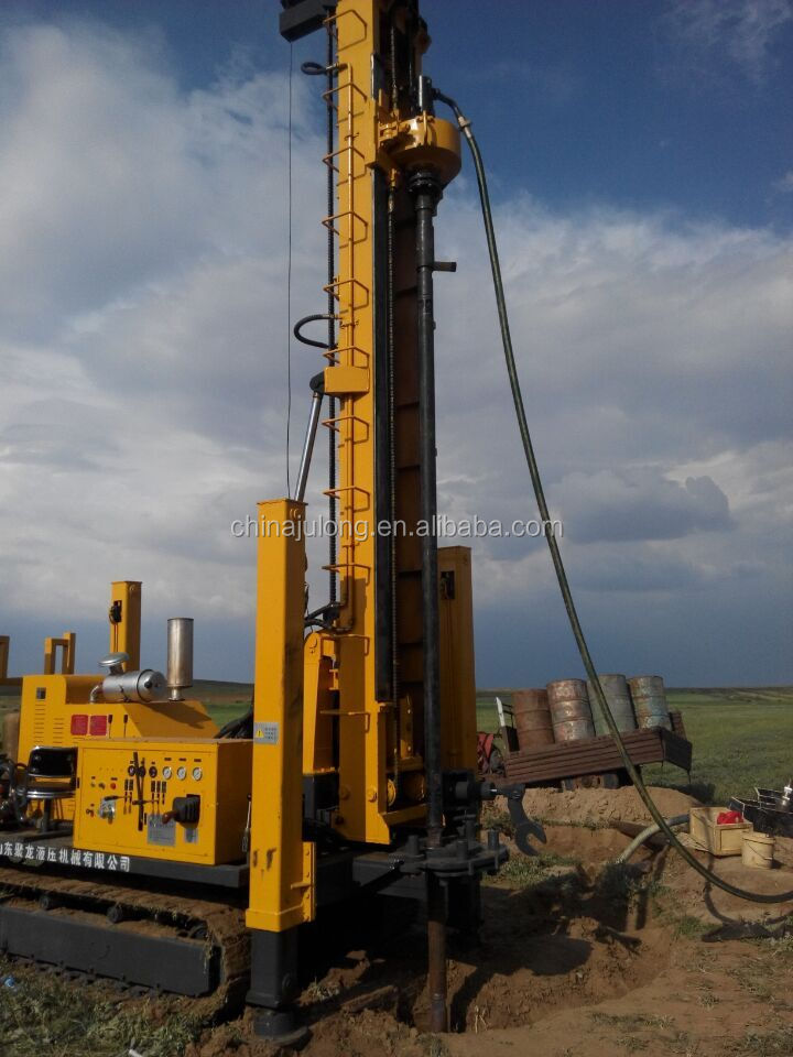 JDL-300 model crawler mounted DTH water well drilling rig