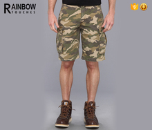 Alibaba China Supplier Cotton Durable Canvas Men Cargo Camo Print Shorts