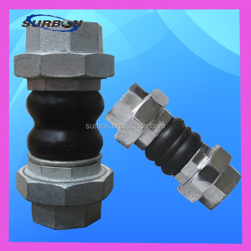 stainless steel threaded type rubber flexible joint
