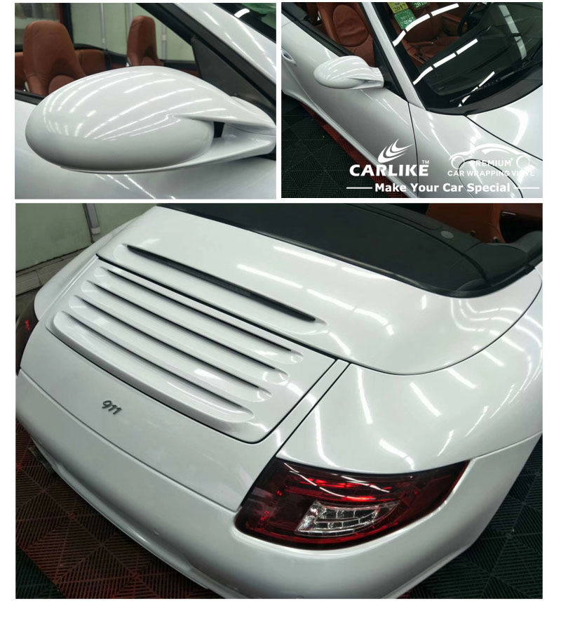 CARLIKE New Arrival Shiny White Diamond Crystal Metal Vinyl Sticker