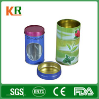 China Factory Directly Delicate New Customized Tea Tin Box with PVC Window